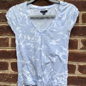 American Eagle Light Periwinkle Patterned Top